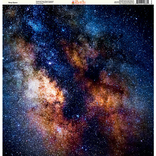 Ella and Viv Paper Company - Galaxy Collection - 12 x 12 Paper - Deep Space
