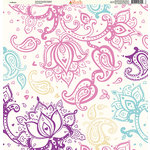 Ella and Viv Paper Company - Pretty Paisley Collection - 12 x 12 Paper - In Bloom