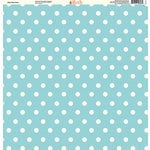 Ella and Viv Paper Company - Pretty Paisley Collection - 12 x 12 Paper - Baby Blue Dots