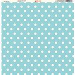 Ella and Viv Paper Company - Pretty Paisley Collection - 12 x 12 Paper - Baby Blue Dots