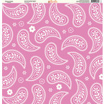 Ella and Viv Paper Company - Pretty Paisley Collection - 12 x 12 Paper - White on Purple Paisley