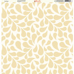 Ella and Viv Paper Company - Pretty Paisley Collection - 12 x 12 Paper - Dew Drops