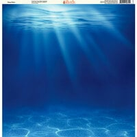 Ella and Viv Paper Company - H2O Collection - 12 x 12 Paper - Deep Water