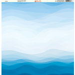 Ella and Viv Paper Company - H2O Collection - 12 x 12 Paper - Waves