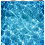Ella and Viv Paper Company - H2O Collection - 12 x 12 Paper - Swimming Pool