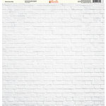 Ella and Viv Paper Company - Brick Backgrounds Collection - 12 x 12 Paper - White Brick Wall