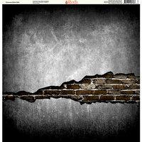Ella and Viv Paper Company - Brick Backgrounds Collection - 12 x 12 Paper - Concrete Brick Wall