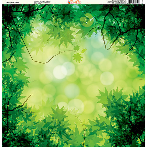 Ella and Viv Paper Company - The Great Outdoors Collection - 12 x 12 Paper - Through The Trees