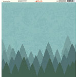 Ella and Viv Paper Company - The Great Outdoors Collection - 12 x 12 Paper - Mountaintop Trees