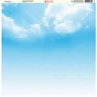 Ella and Viv Paper Company - The Great Outdoors Collection - 12 x 12 Paper - Partly Cloudy