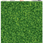 Ella and Viv Paper Company - The Great Outdoors Collection - 12 x 12 Paper - All Over Green Leaves