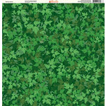 Ella and Viv Paper Company - The Great Outdoors Collection - 12 x 12 Paper - Spring Leaves