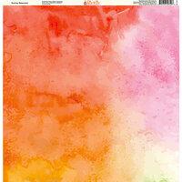 Ella and Viv Paper Company - Watercolor Dreams Collection - 12 x 12 Paper - Sunrise Watercolor