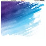 Ella and Viv Paper Company - Watercolor Dreams Collection - 12 x 12 Paper - Violet Ombre Watercolor