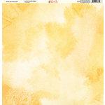 Ella and Viv Paper Company - Watercolor Dreams Collection - 12 x 12 Paper - Golden Sun Watercolor