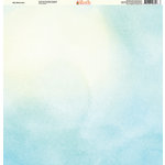 Ella and Viv Paper Company - Watercolor Dreams Collection - 12 x 12 Paper - Sky Watercolor