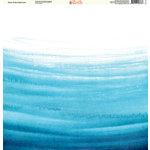Ella and Viv Paper Company - Watercolor Dreams Collection - 12 x 12 Paper - Ocean Ombre Watercolor