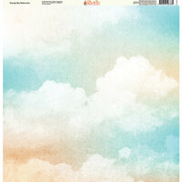 Ella and Viv Paper Company - Watercolor Dreams Collection - 12 x 12 Paper - Cloudy Sky Watercolor