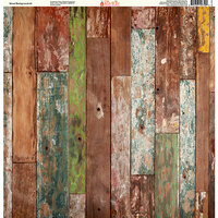 Ella and Viv Paper Company - Wood Backgrounds Collection - 12 x 12 Paper - Three