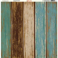 Ella and Viv Paper Company - Wood Backgrounds Collection - 12 x 12 Paper - Seven