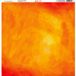 Ella and Viv Paper Company - Painted Collection - 12 x 12 Paper - Sky on Fire Watercolor