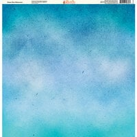Ella and Viv Paper Company - Painted Collection - 12 x 12 Paper - Ocean Blue Watercolor