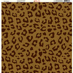 Ella and Viv Paper Company - Safari Collection - 12 x 12 Paper - Leopard