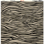 Ella and Viv Paper Company - Safari Collection - 12 x 12 Paper - Zebra