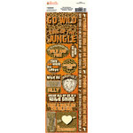 Ella and Viv Paper Company - Safari Collection - Cardstock Stickers - Combo