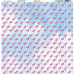 Ella and Viv Paper Company - Watercolor Beach Collection - 12 x 12 Paper - Watercolor Flamingos