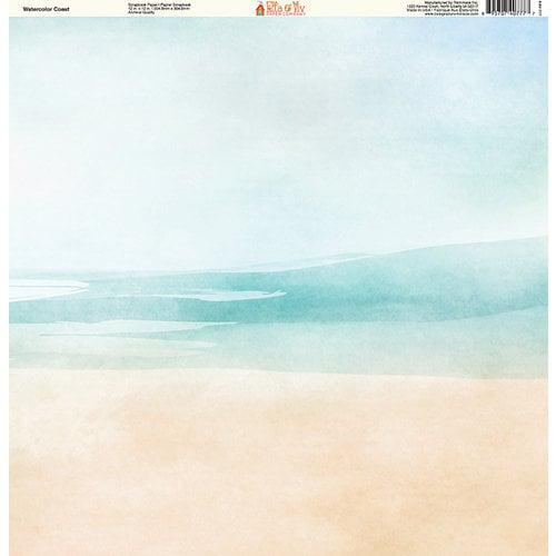 Ella and Viv Paper Company - Watercolor Beach Collection - 12 x 12 Paper - Watercolor Coast
