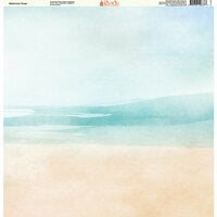 Ella and Viv Paper Company - Watercolor Beach Collection - 12 x 12 Paper - Watercolor Coast