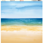Ella and Viv Paper Company - Watercolor Beach Collection - 12 x 12 Paper - Watercolor Beach