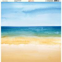 Ella and Viv Paper Company - Watercolor Beach Collection - 12 x 12 Paper - Watercolor Beach