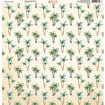 Ella and Viv Paper Company - Watercolor Beach Collection - 12 x 12 Paper - Watercolor Palms
