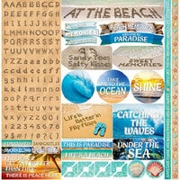 Ella and Viv Paper Company - Just Beachy Collection - Cardstock Stickers - Alphabet