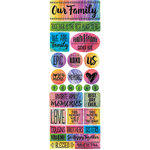 Ella and Viv Paper Company - Family Time Collection - Cardstock Stickers - Combo