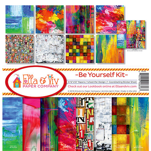 Ella and Viv Paper Company - Be Yourself Collection - 12 x 12 Kit