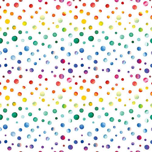 Ella and Viv Paper Company - Watercolor Party Collection - 12 x 12 Paper - Watercolor Dots