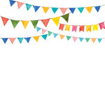 Ella and Viv Paper Company - Watercolor Party Collection - 12 x 12 Paper - Watercolor Banners