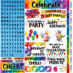 Ella and Viv Paper Company - Watercolor Party Collection - 12 x 12 Cardstock Stickers - Poster