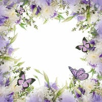 Ella and Viv Paper Company - The Butterfly Effect Collection - 12 x 12 Paper - Butterfly Garden