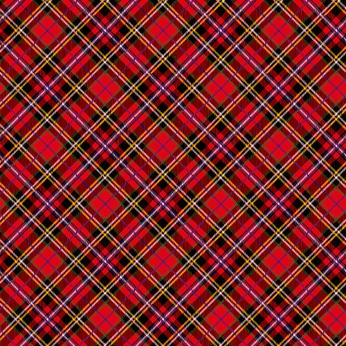 Ella and Viv Paper Company - Perfectly Plaid Collection - 12 x 12 Paper - Royal Tartan