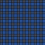 Ella and Viv Paper Company - Perfectly Plaid Collection - 12 x 12 Paper - Blue Tartan