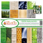 Ella and Viv Paper Company - 100 Percent Natural Collection - 12 x 12 Kit