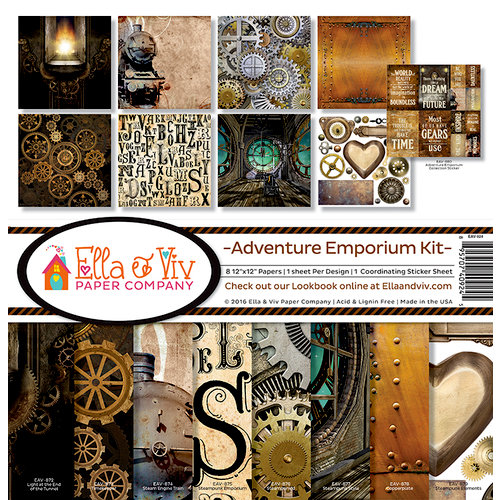 Ella and Viv Paper Company - Adventure Emporium Collection - 12 x 12 Kit