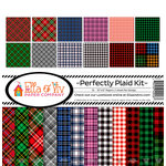 Ella and Viv Paper Company - Perfectly Plaid Collection - 12 x 12 Kit