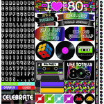 Ella and Viv Paper Company - 80's Party Collection - 12 x 12 Cardstock Stickers