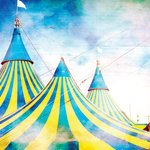 Ella and Viv Paper Company - Le Cirque Collection - 12 x 12 Paper - The Big Top