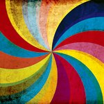 Ella and Viv Paper Company - Le Cirque Collection - 12 x 12 Paper - Kaleidoscope